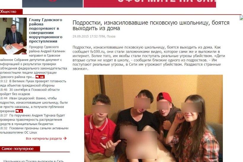 SKANDAAL PIHKVAS: koolipoisid vägistasid teismelise neiu ja riputasid ta alastifoto internetti