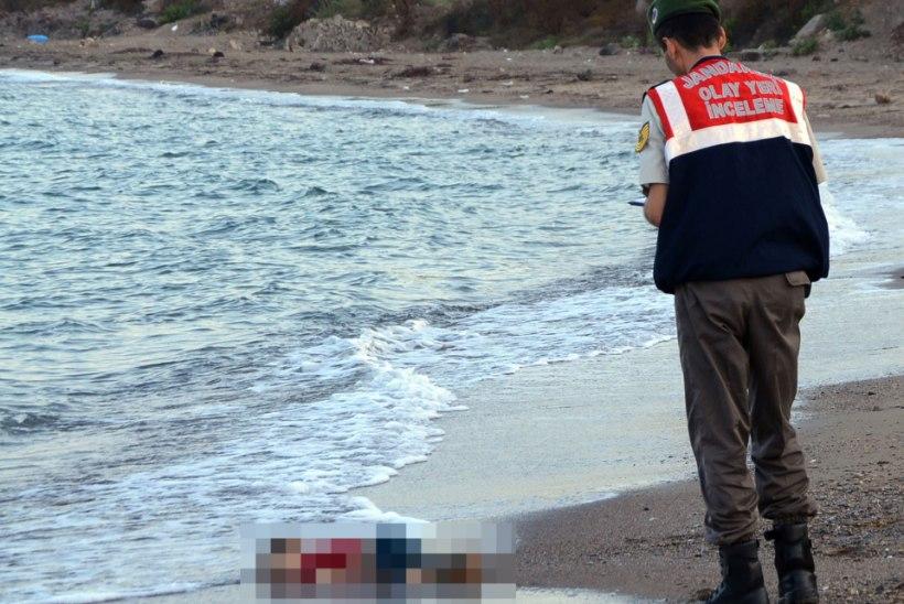 SÜDANTLÕHESTAVAD FOTOD: Türgi rannast leiti väikese pagulaspoisi surnukeha