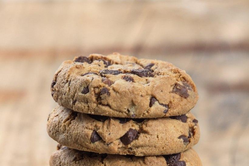 Tervislik kook: Küpsisemaitseline kikerhernekook šokolaadi ja rosinatega