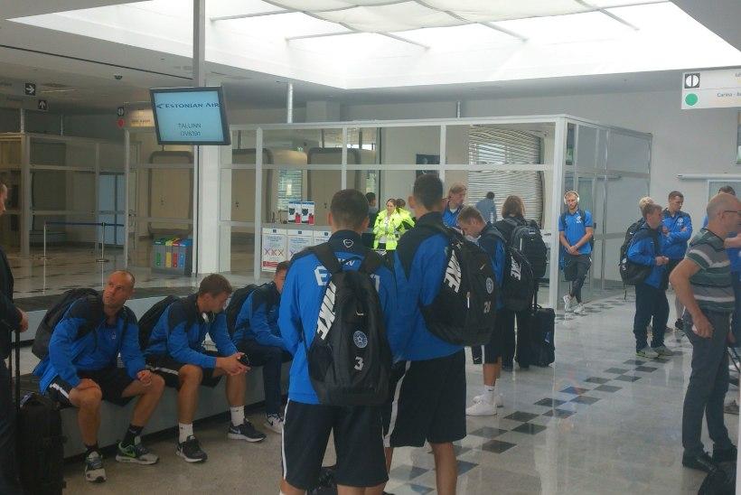 FOTOD   Jalgpallikoondis maandus Mariboris, et pidada elutähtis lahing