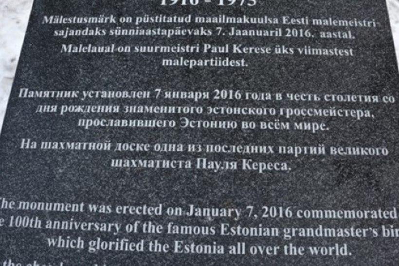 Paul Kerese mälestusmärk parandati ära