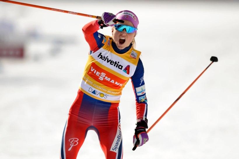 Eile sprindis 15. koha saanud Therese Johaug võitis ülivõimsalt Touri klassikaetapi