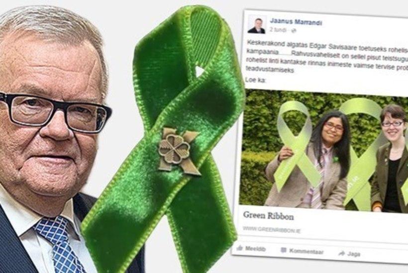 Marrandi Savisaare toetuskampaaniast: rohelist linti kantakse ka vaimsete probleemide teadvustamiseks