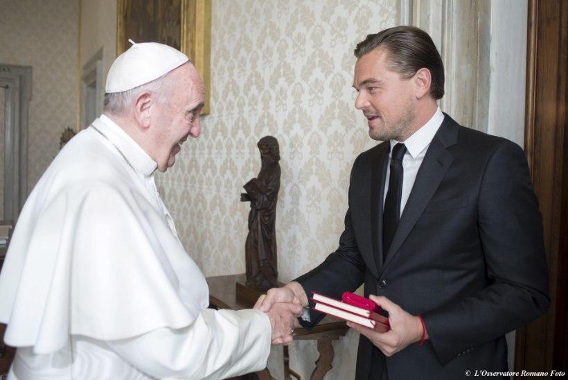 FOTOD | Paavst Franciscus austas Leonardo DiCapriot vastuvõtuga