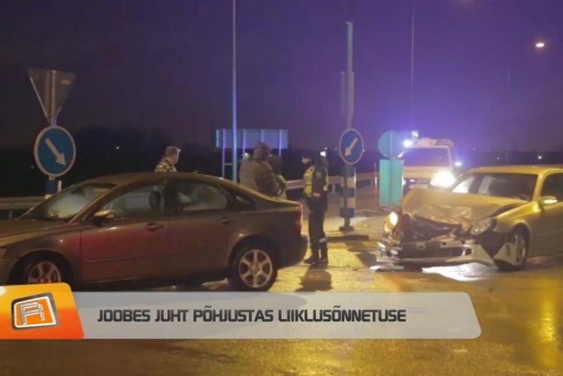 """""""REPORTERI"""" VIDEO   Joobes juht põhjustas liiklusõnnetuse"""