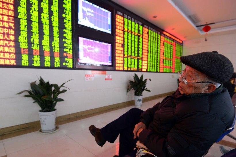 VALUS ALGUS: Hiina börs alustas aastat kukkumisega