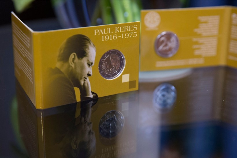 GALERII | Paul Keres jäädvustati 2-eurosele mündile ja postmargile