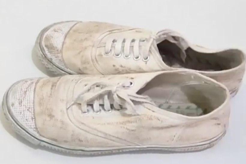 VIDEO! Tõhus viis tenniste pesemiseks