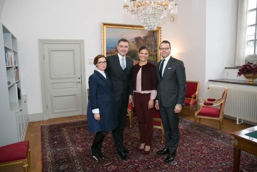 Taavi Rõivas ja Luisa Värk käisid Rootsi kroonprintsessil külas