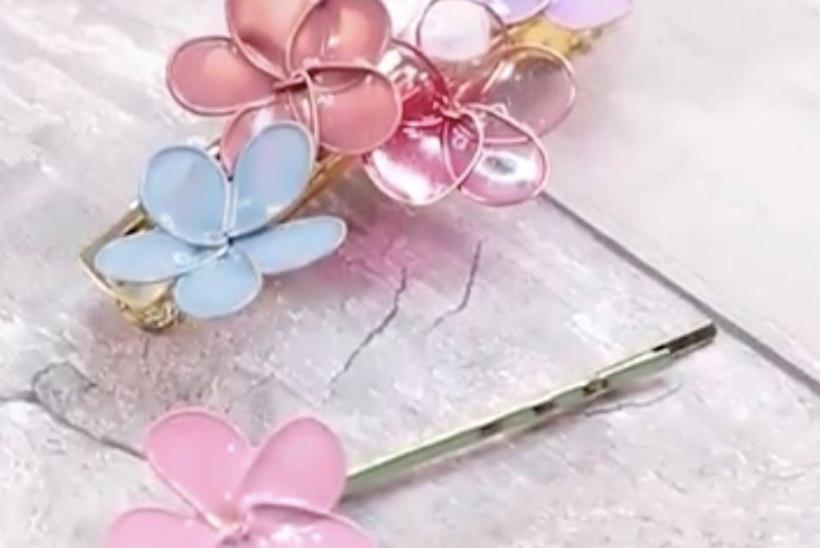 Tee ise: imeilusad lillelised juukseklambrid!
