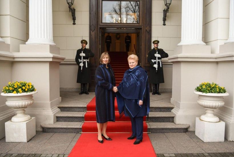 FOTOD JA VIDEO | KAKS KANGET NAIST: vaata, mida kandis president Kaljulaid Leedu riigipeaga kohtudes!
