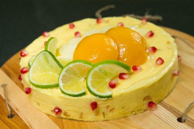KÜPSETA NAGU PROFF I Gluteenivaba šokolaadibiskviidiga mangotort