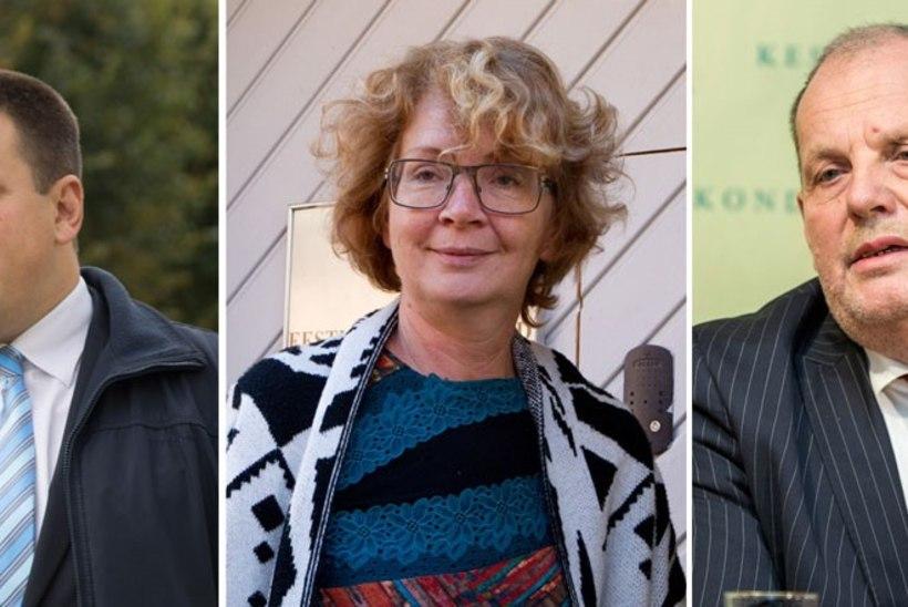 Keskerakonna esimehe kandidaadid on Ratas, Toom ja Ernits, Savisaar loobub?