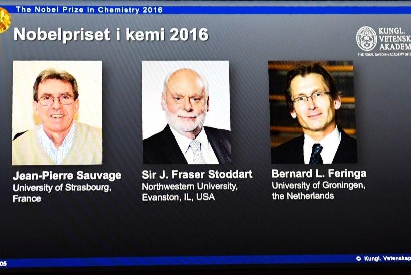 Nobeli keemiaauhind läheb molekulaarmasina loojatele