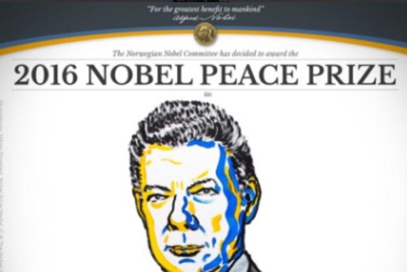 Nobeli rahupreemia sai Colombia president