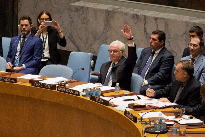 Venemaa pani ÜROs veto verevalamise peatamisele Aleppos