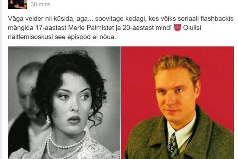 """Mart Sander otsib seriaali """"Litsid"""" jaoks 20-aastast ennast ja 17-aastast Merle Palmistet!"""