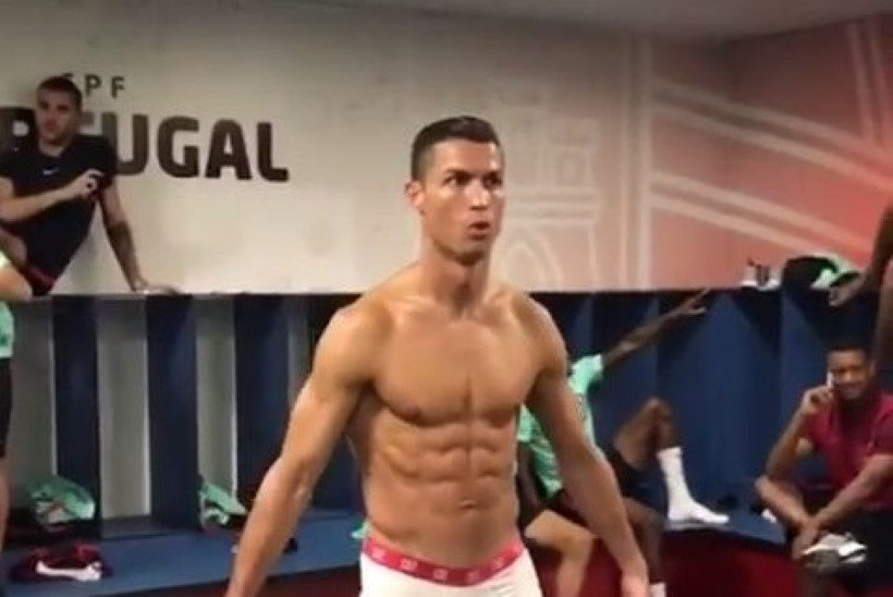 VIDEO   Kuumad kaadrid! Vaata, millega rõõmustas Portugali koondis fänne enne Läti alistamist