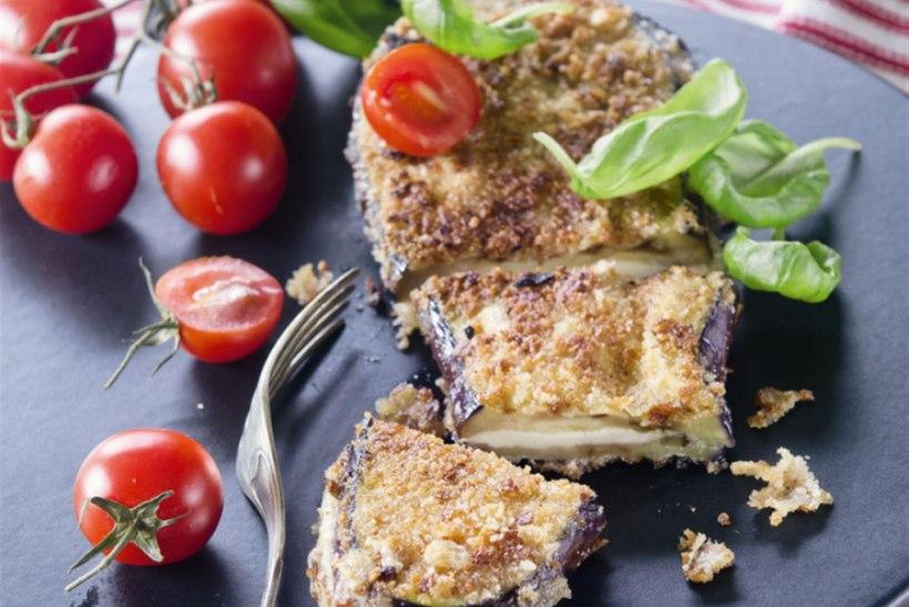 Paneeritud baklažaan juustutäidisega