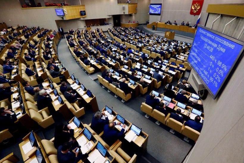 Venemaa riigiduuma saadikuid ootab tööluusi eest kopsakas trahv