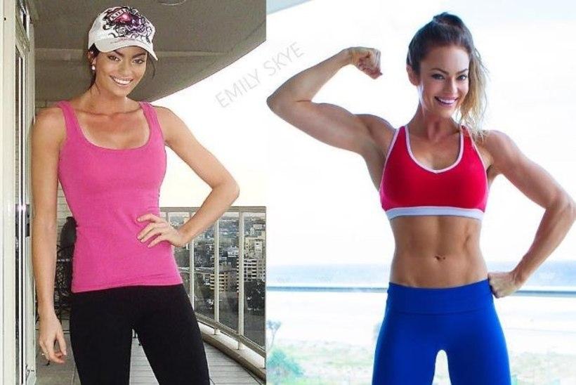 Fitness-staar on õnnelik kaalus juurdevõtmise üle!