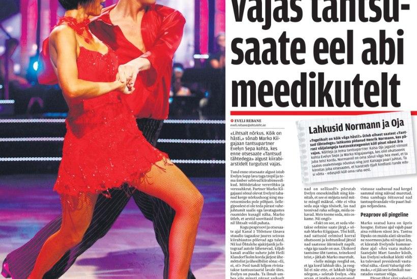 Evelyn Sepp: kukkusin enne tantsusaate otse-eetrit kurnatuse tõttu kokku