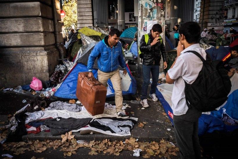 Sõda pagulastega Pariisi tänavatel