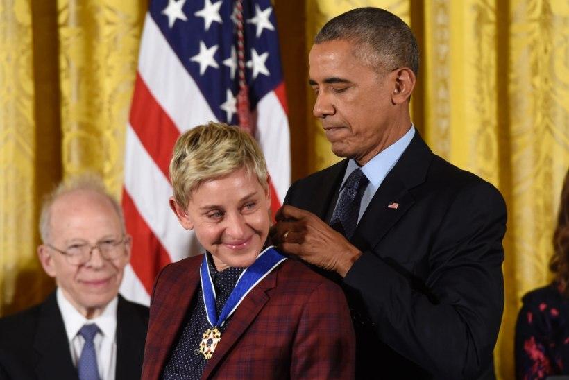 President Obamalt medali saanud Ellen valas pisaraid