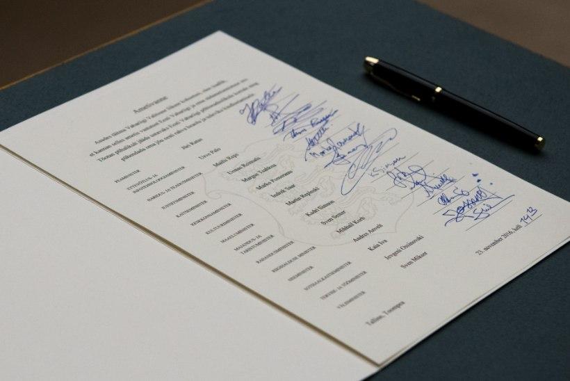Allkirjad kõnelevad: mis iseloom on Jüri Ratase valitsuse ministritel?