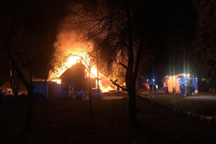 PILDID | Raplamaal põles öösel elumaja
