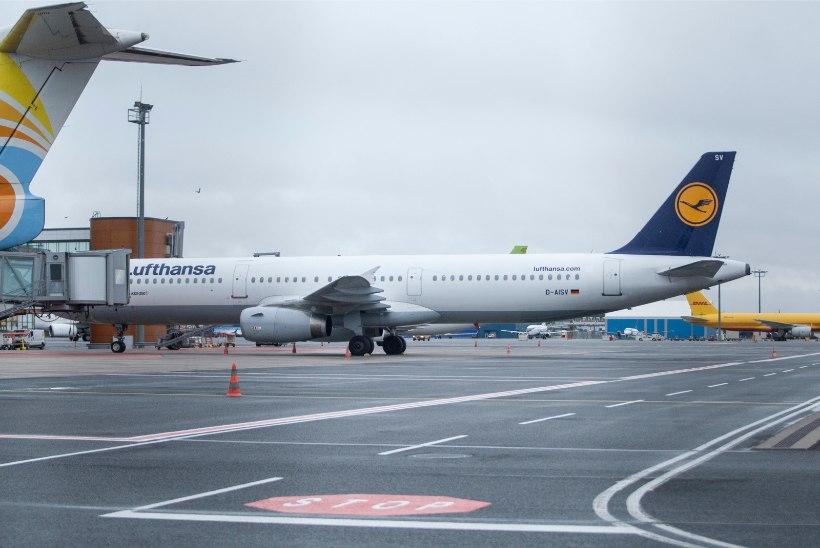 Lufthansa streigi tõttu tühistati möödunud nädalal tosin Tallinn-Frankfurt-Tallinn lendu