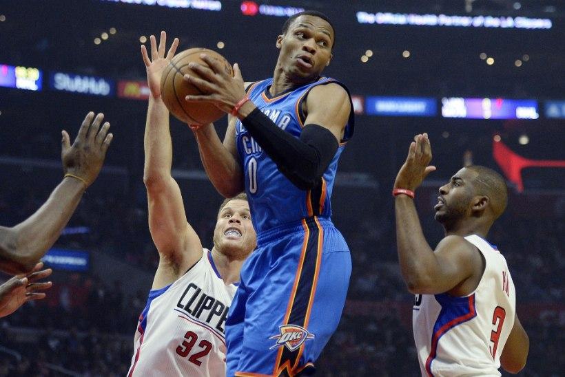 Westbrook ja Oklahoma City tegid seda jälle, ees ootavad Durant ja Golden State