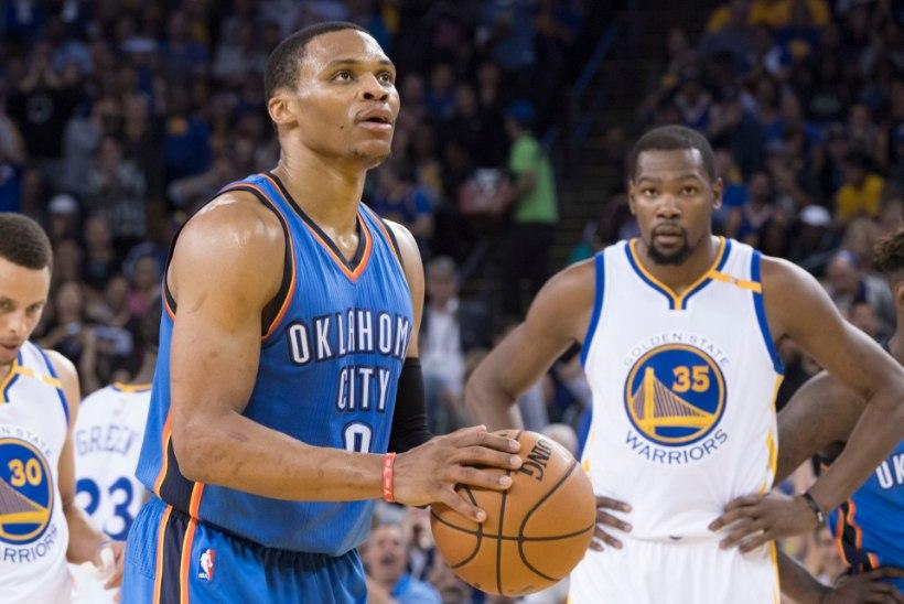 Golden State alistas Oklahoma City 26 punktiga ehk Durant tegi Westbrookile ära