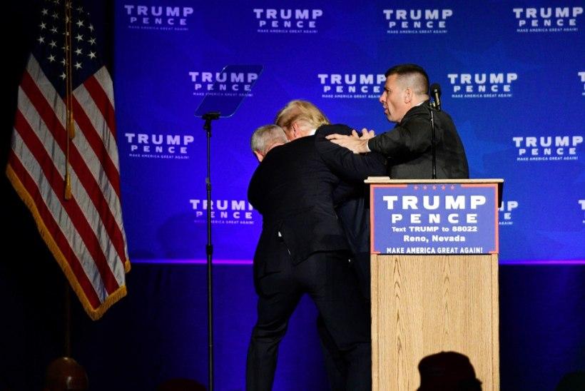 Protestija peletas Trumpi lavalt