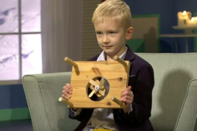 Kuueaastane õpilasleiutajate konkursi võitnud Aleksander Urbala leiutas pudrujahutaja!