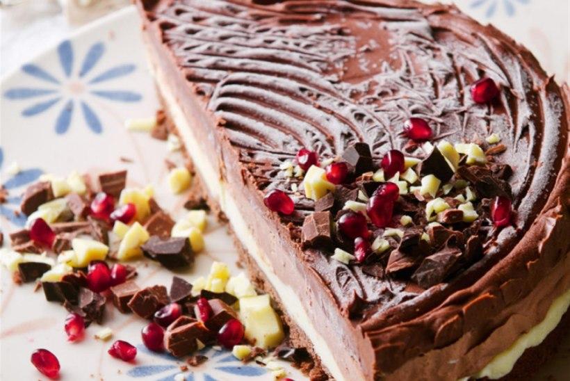 Külm kolme šokolaadi tort