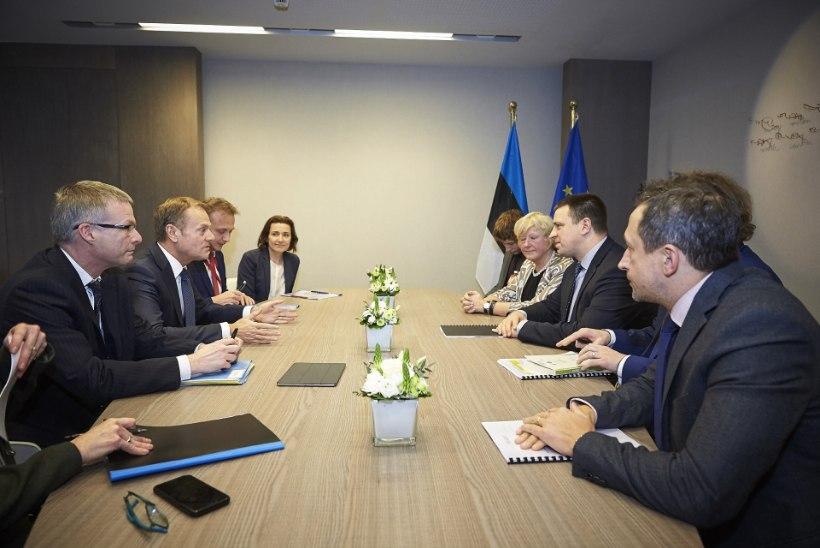 FOTOD | Ratas kohtus Brüsselis Tuski, Junckeri ja Ansipiga