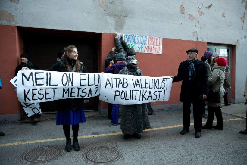 Rahutu rahva poliitiline sõnum ministrile: Pomerants, mine metsa!