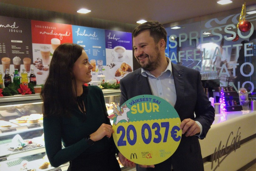 McDonald's annetas haigete laste unistuste täitumiseks üle 20000 euro