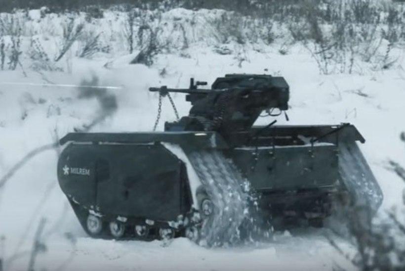 Eesti sõjatööstuse saavutusi: Eesti kaitsejõud katsetasid mehitamata lahingsõidukit