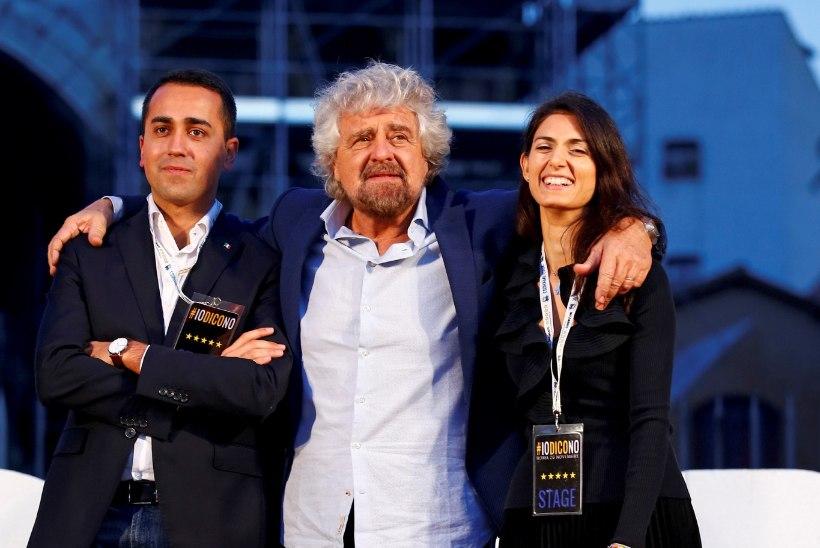 Itaalia poliitiline popstaar Beppe Grillo krillib vastastega rõõmuga