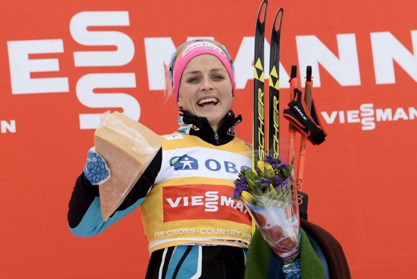 Therese Johaug tõusis võiduga Bente Skari kõrvale