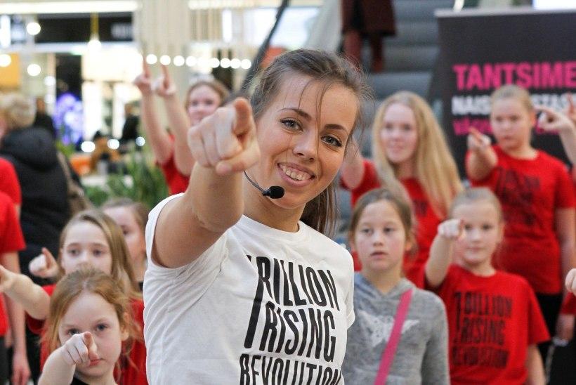 GALERII | Viru keskuses tantsiti naistevastase vägivalla vastu