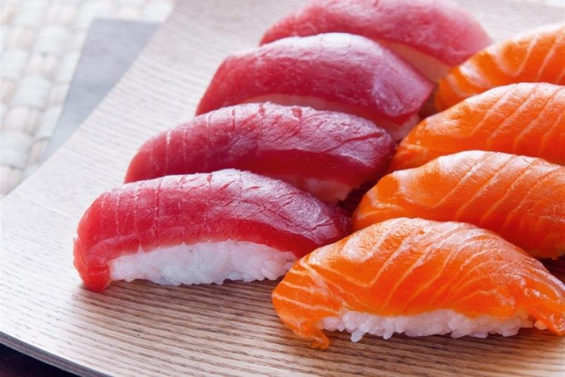 Klassikalised nigirid tuunikala ja lõhega