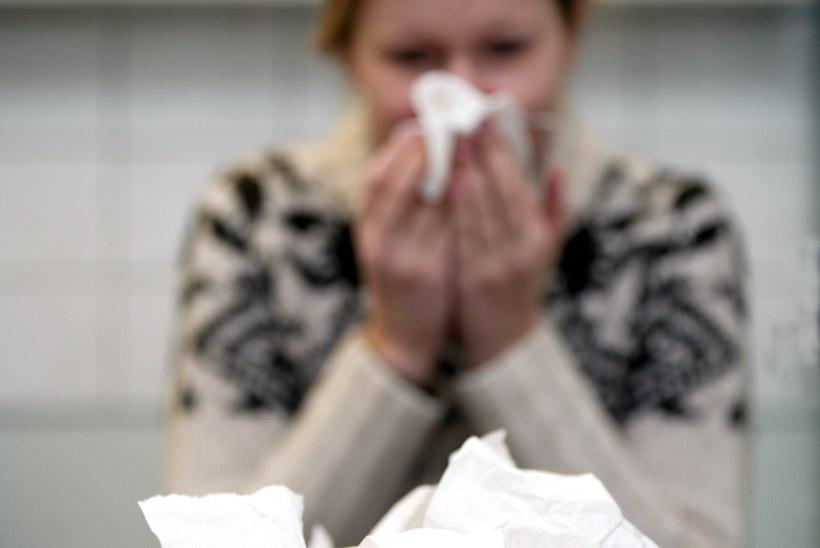 Haigete arv kasvas hüppeliselt: enim on gripihaigeid Tallinnas ja Pärnumaal