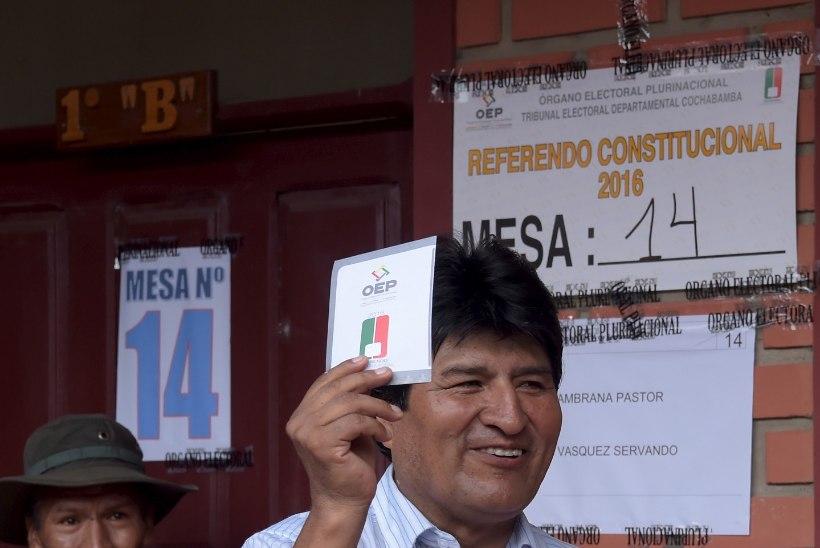 Boliivia president Morales jäi rahva toetusest ilma