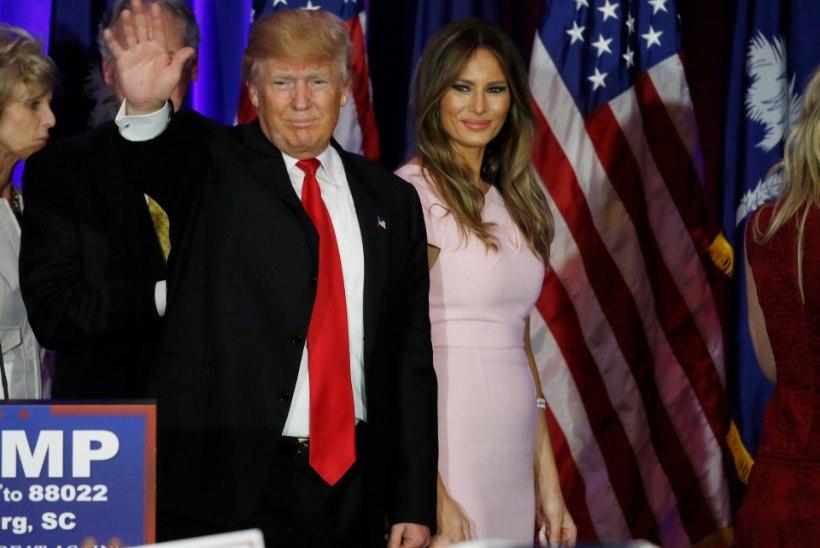 Melania Trump unistab abikaasa edu valguses juba Valgest Majast