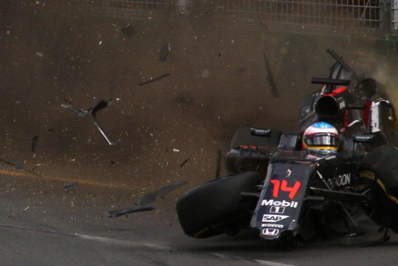 F1 algus täistuuridel: Alonso õnnetus, Rosberg võitjaks, vana kvalifikatsioon