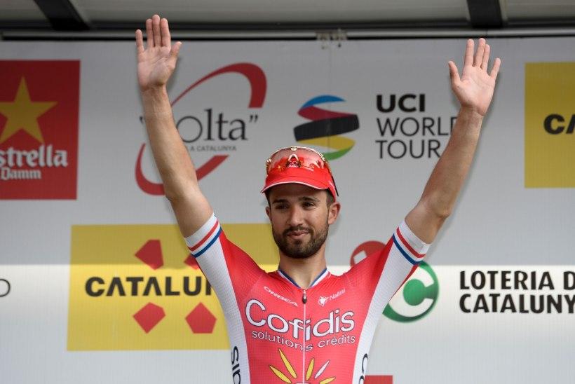 Kataloonia velotuuri esimese etapi võitis prantslane, Kangert ja Taaramäe peagrupis