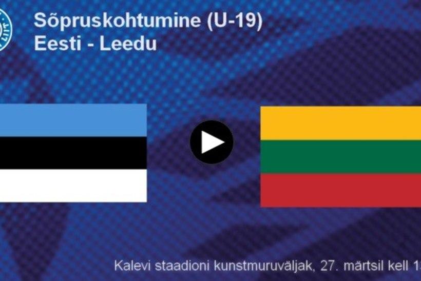 JÄRELVAADATAV | Eesti kohtuniku niru vilepartii kinkis Leedu U19 koondisele eestlaste üle 1:0 võidu